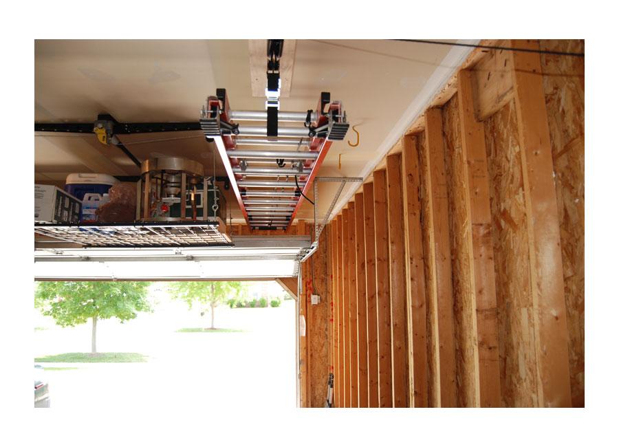 Racor Ladder Lift Garage Shop Ceiling Mount Pulley