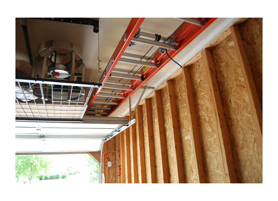 Designed for ceilings up to 12 feet high and ladders up to 150 pounds