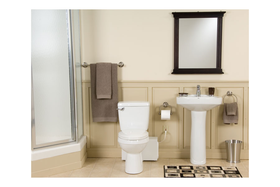 Bathroom Anywhere 38759 Macerating Toilet System, Includes Toilet and