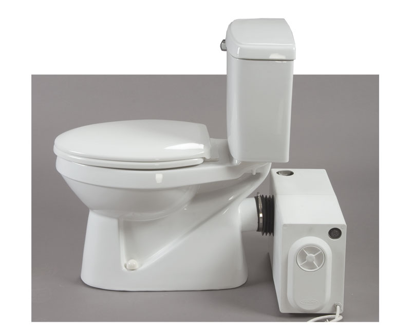 Bathroom anywhere 38759 macerating toilet system includes for 1 bathroom septic tank