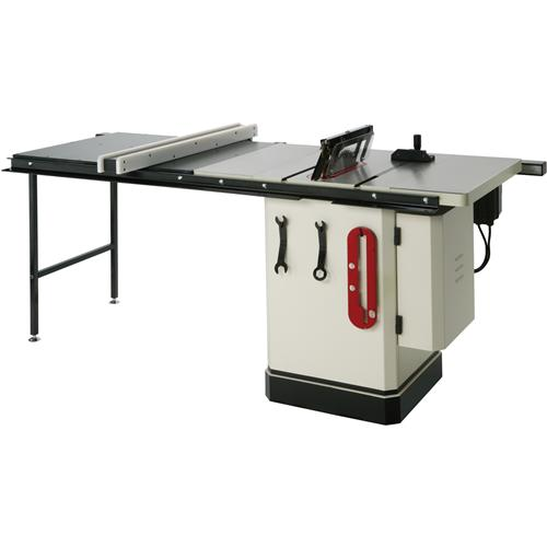 Shop fox w1820 3 hp 10 inch table saw with extension table for 10 inch table legs