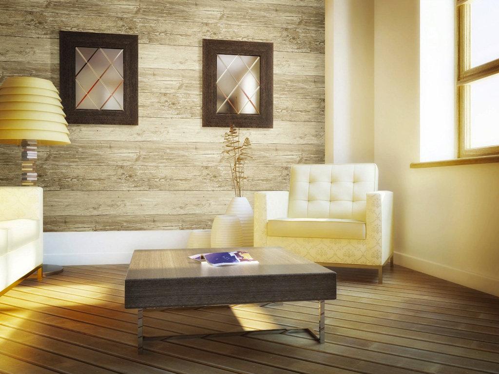Wall In A Box WIB1010 Weathered Wallpaper Ash Pine Oak