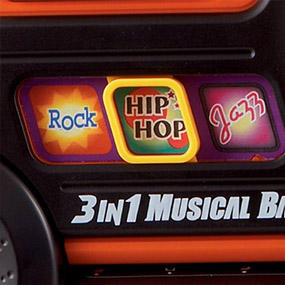 There are 3 styles to choose from: Rock, Hip Hop, and Jazz.