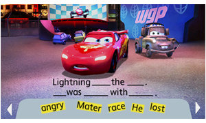 Play games with Mater and McQueen to build reading skills