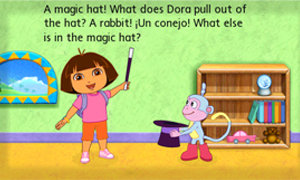 Build reading comprehension and get into the act with Dora and Boots!