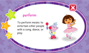 Expand vocabulary by tapping highlighted words for a kid-friendly definition.