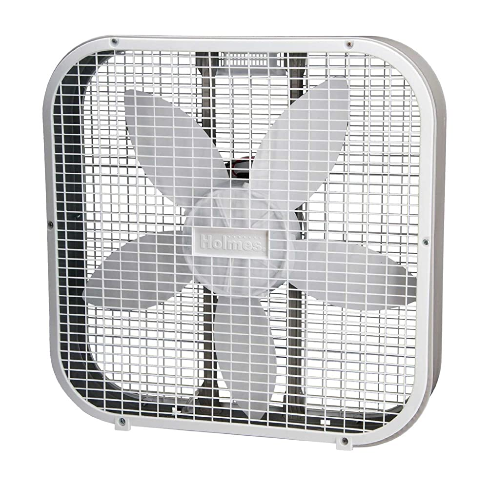 Most Powerful Floor Fans : Amazon holmes hbf a wm inch box fan white