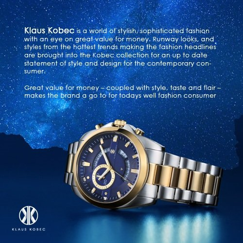 Amazon.com: Klaus Kobec Men's 6061K-M Destiny Swiss Quartz