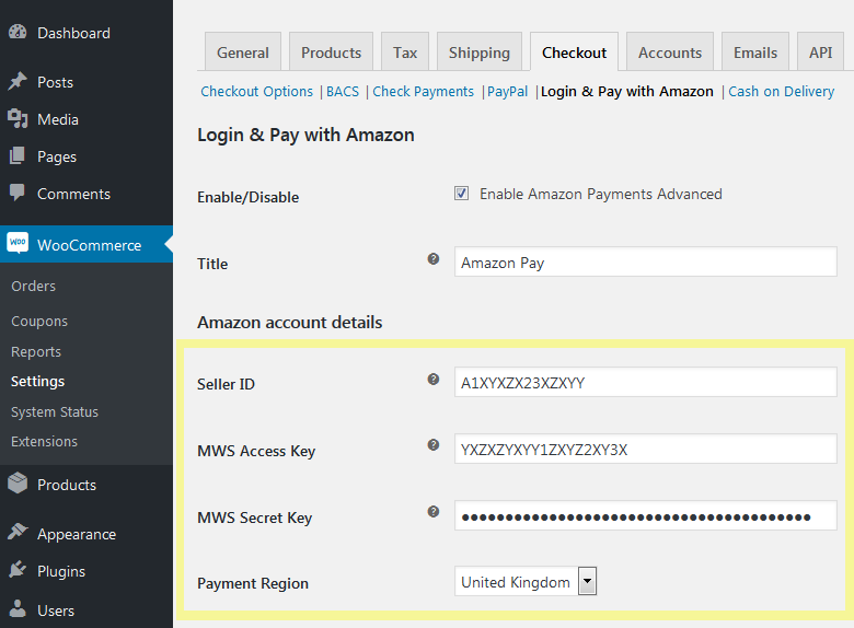 How to delete amazon payments account