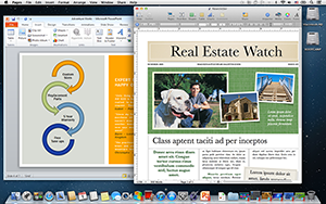 Screenshot Pages & PowerPoint Side-by-Side