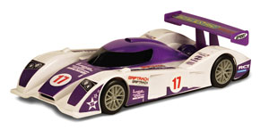 Purple endurance racing car
