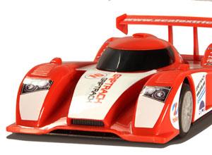 Red endurance racing car