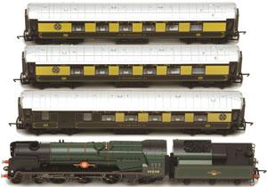 R1162 British-Pullman train top-view