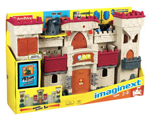 Imaginext Action Tech Castle box
