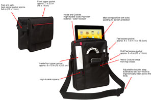 V7 messenger bag features