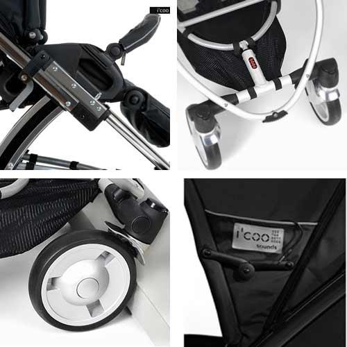 Suspension, handlebar, brake, MP3 player