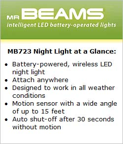 Mr Beams MB723 Night Light at a Glance