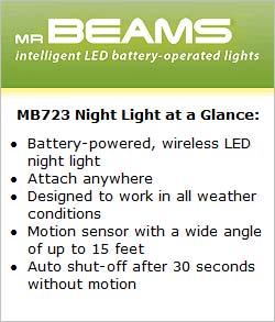 Mr Beams MB723 Night Light at a Glance