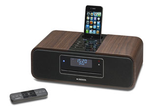 Built in docking station for iPod/iPhone.
