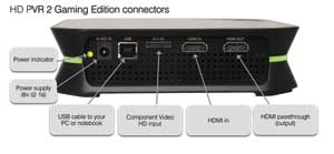 HD PVR back panel