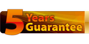 5 years PLATINUM manufacturer?s warranty