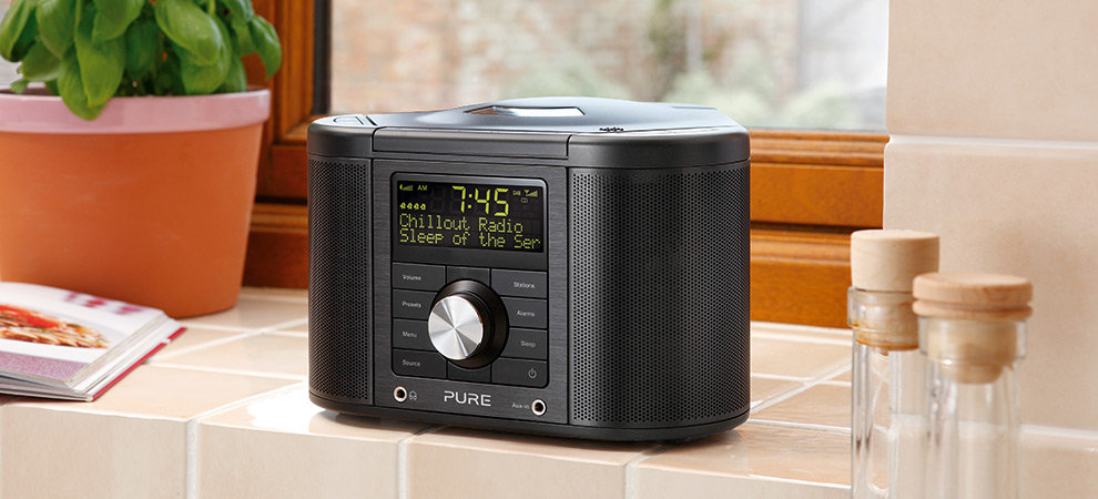 pure chronos cd series ii dab fm cd stereo clock radio. Black Bedroom Furniture Sets. Home Design Ideas