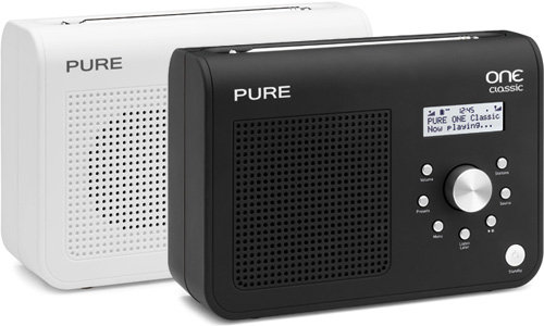 pure one classic series ii portable dab fm radio black. Black Bedroom Furniture Sets. Home Design Ideas