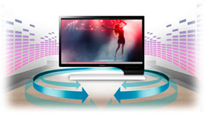 The total audio-video solution with built-in speakers