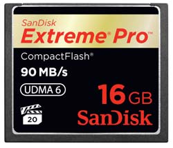 SanDisk Extreme Pro CompactFlash 16GB Memory Card