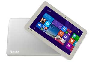 The Toshiba Encore 2 WT10-A tablet has a satin gold finish