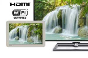 It's easy to stream video to the big screen with wireless display technology, or simply plug in a HDMI cable