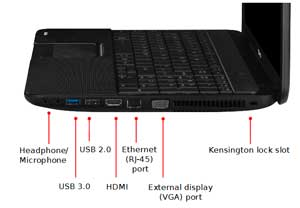 See some of the features of the Toshiba Satellite C850 laptop.
