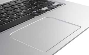 The Toshiba Chromebook features a full size tile keyboard and multi-finger clickpad