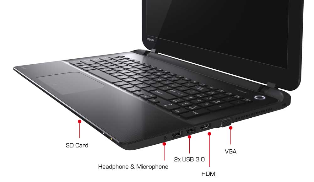 See some of the features of the Toshiba Satellite L50-B laptop. Click