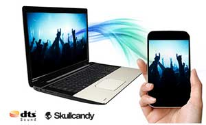 Stream your favourite music to experience the balanced and clear sound of Skullcandy-tuned speakers