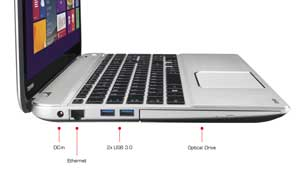 See some of the features of the Toshiba Satellite P50 laptop