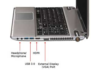 See some of the features of the Toshiba Satellite P855 laptop.