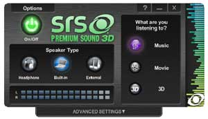 SRS Premium Sound 3D helps you to get the best sound experience possible from your music, movies and games.