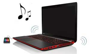 The X870 can charge your mobile devices via USB or play music even with the laptop switched off.