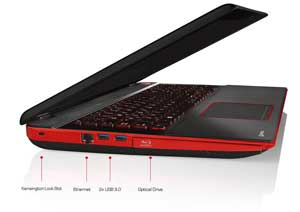 See some of the features of the Toshiba Qosmio X70 laptop.