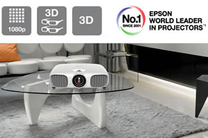 Full HD, 1080p Epson projector takes your enjoyment of games, movies and sports to a whole new level