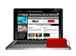 MyTalk web page with Jambox