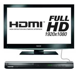 The Toshiba SD3010 upscales your standard definition DVDs into Full HD 1080p via HDMI