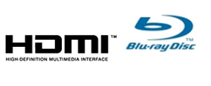 HDMI and Blu-Ray Disc logos