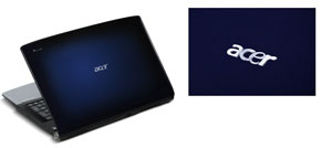 Gemstone Blue design with detail of Acer logo