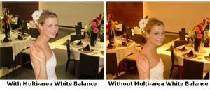 Multi-area White Balance