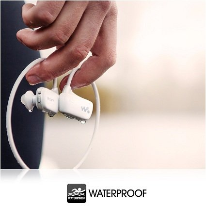 Waterproof so you can sweat and swim with no damage.