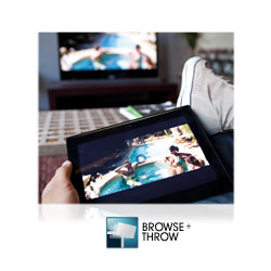Grab your personal music, video or pictures and 'throw' them to an internet connected television, hi-fi or photo frame.