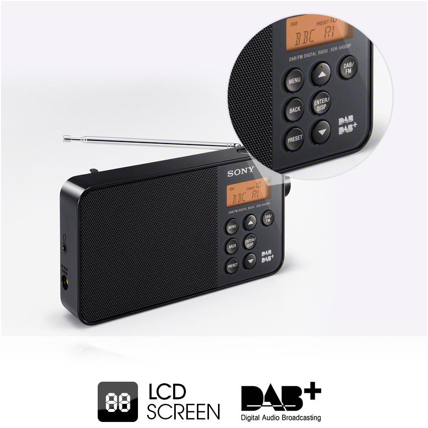 sony xdrs40 dab dab fm ultra compact digital radio white tv. Black Bedroom Furniture Sets. Home Design Ideas