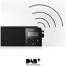 Digital Radio with clear sound quality